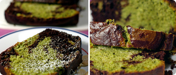 Koyu Matcha Tea 187 Marble Cake